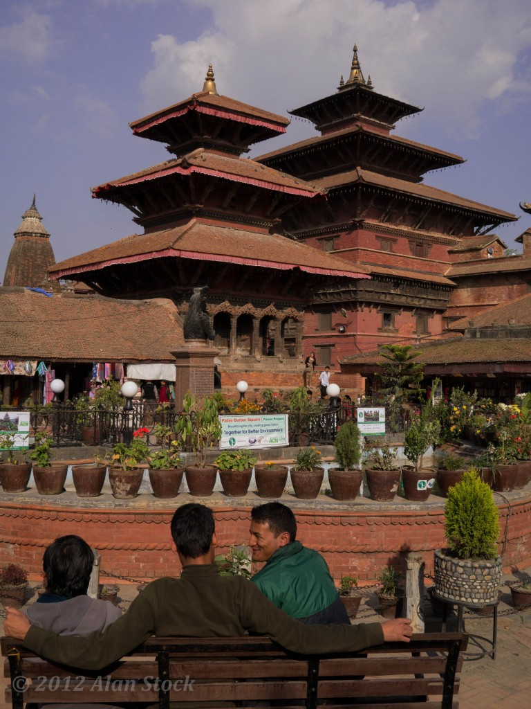 Outside Patan's Dubar Square