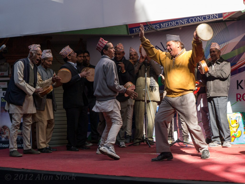 Traditional song and dance at the street festival
