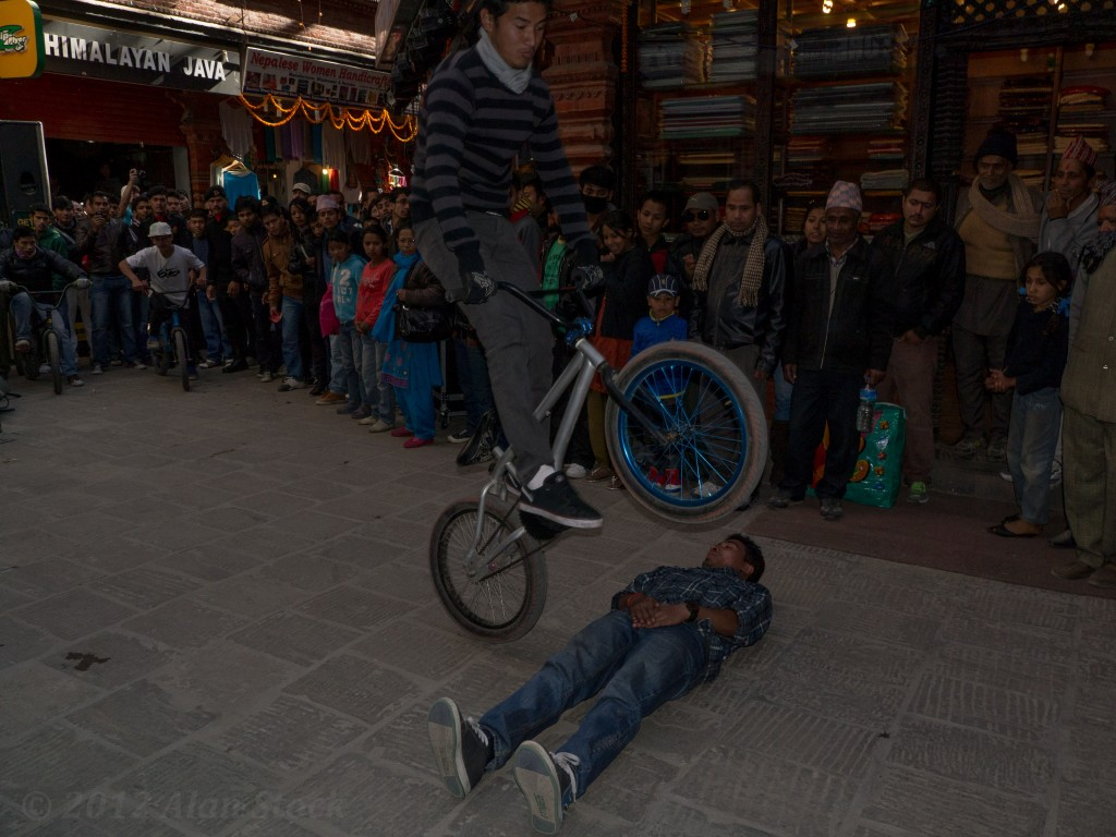 Bike stunts at the street festival