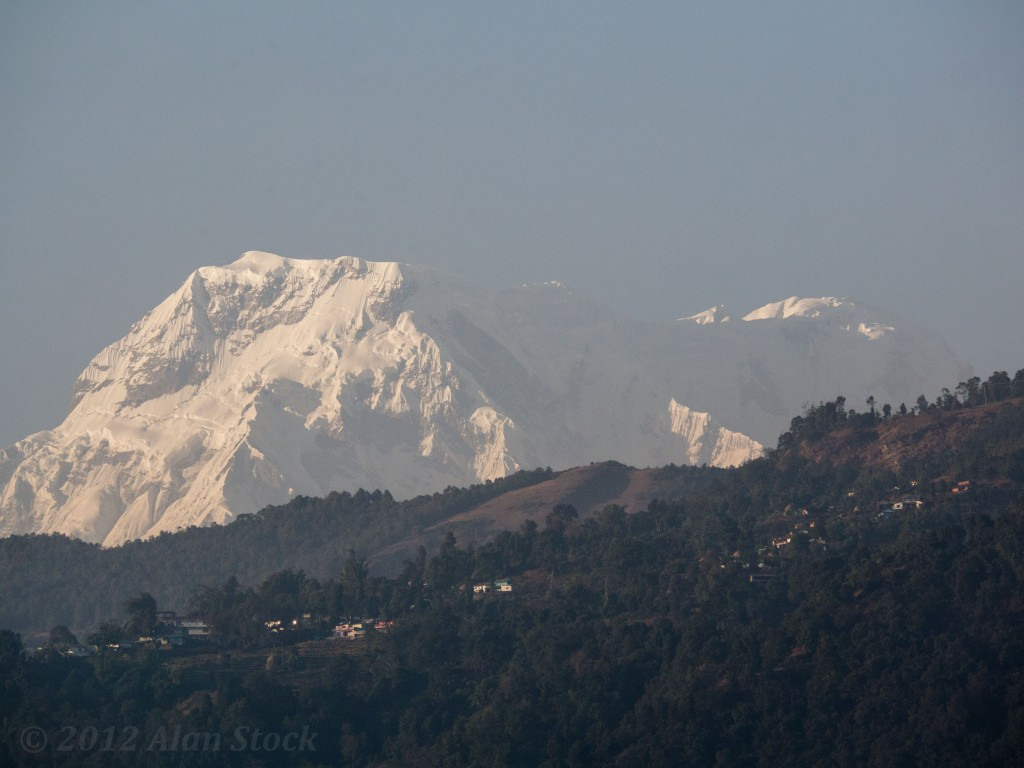 The skies were very clear now winter was approaching, every day you could see the Annapurnas