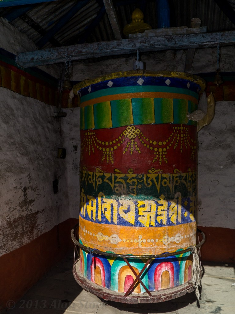 A big prayer wheel by the main entrance