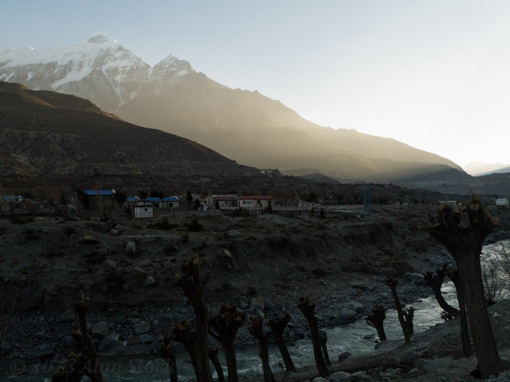 Sunset over Jomsom's valley