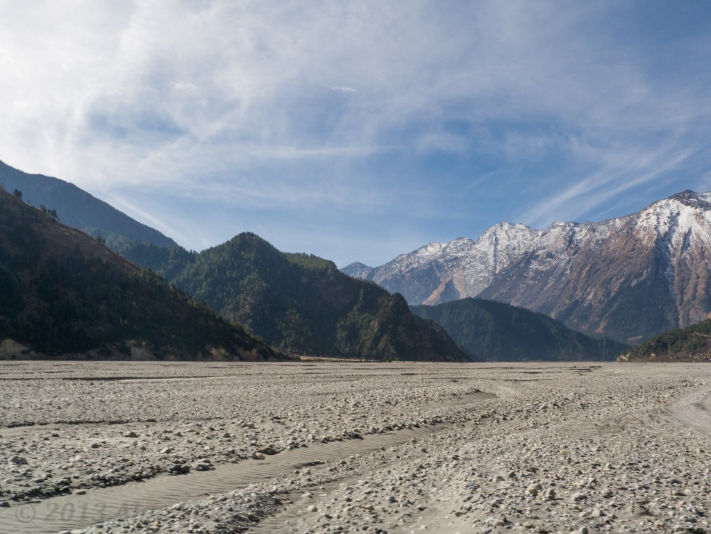 A shale field up near Jomsom