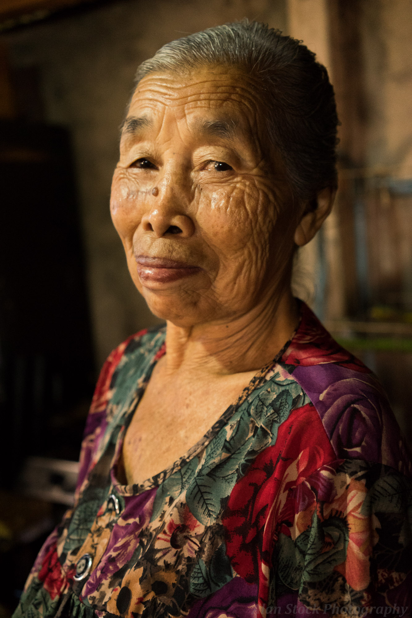 old asian lady